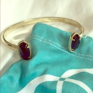 Kendra Scott Elton Navy and Gold Cuff bracelet